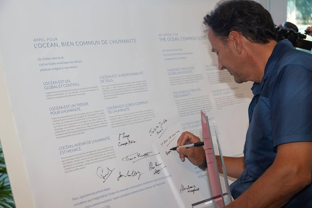 Signature de l'Appel le 8 juin 2018 à Monaco