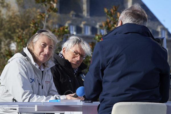 Saint-Malo, ville départ de la Route Du Rhum Destination Guadeloupe 2018. Ambizances village et pontons